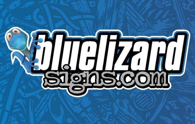 Blue Lizard Signs